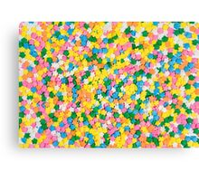 Candy Sprinkles Background Canvas Print