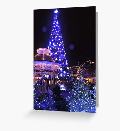 Blue, White and Cosy Greeting Card