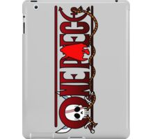 one piece red hair shanks jolly roger anime manga shirt iPad Case/Skin