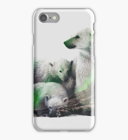 Arctic Polar Bear Family iPhone Case/Skin