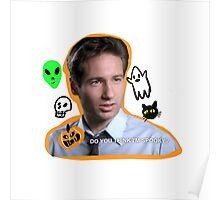 spooky mulder Poster
