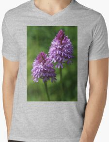 Pyramidal Orchids Wild Flowers Mens V-Neck T-Shirt