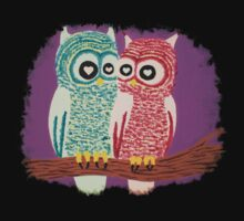 Owl Couple Baby Tee