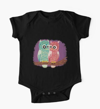 Owl Couple One Piece - Short Sleeve