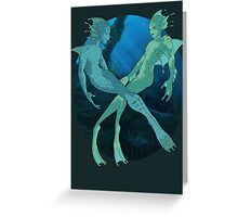 Flirtatious Aquasapiens Clothing or Sticker Greeting Card