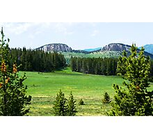 Twin Buttes Photographic Print