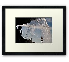 Contours, shades and memories Framed Print