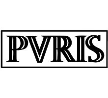 band logo black/white horizontal Photographic Print