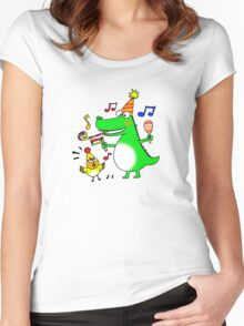 Funny party animals Women's Fitted Scoop T-Shirt