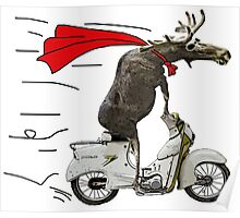 moped moose Poster