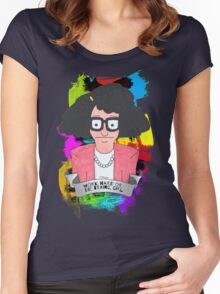 Tina Belcher  Working girl Women's Fitted Scoop T-Shirt