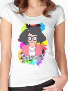 Tina Belcher  Working girl Women's Fitted Scoop T-Shirt