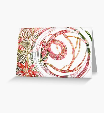 Glass Circle coloured pencil Greeting Card