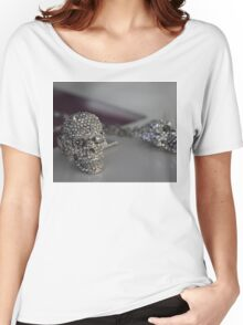 Diamond Skull. Women's Relaxed Fit T-Shirt