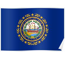 State Flags of the United States of America -  New Hampshire Poster