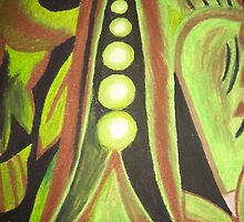 Abstract Peas by Stefanie Sharp