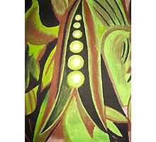 Abstract Peas Photographic Print
