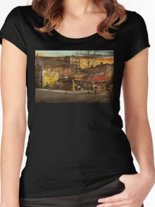 Gas Station - At the end of a day 1925 Women's Fitted Scoop T-Shirt