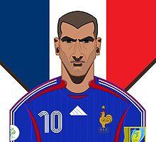 Zinadine Zidane by Astvdillo