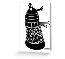 Minimalist Dalek  Greeting Card