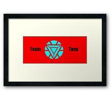 Team Tony Framed Print