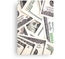 Money Dollars Canvas Print