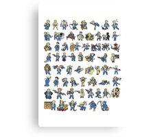 Fallout Perks Canvas Print