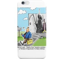 Vacuum Salesman at Death's Door iPhone Case/Skin