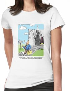 Vacuum Salesman at Death's Door Womens Fitted T-Shirt