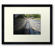at the wall Framed Print