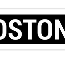 Boston Brandy Sign Sticker