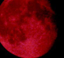 Red Night Luna Sticker