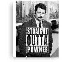 Striaght Outta Pawnee Canvas Print