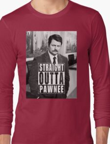 Striaght Outta Pawnee Long Sleeve T-Shirt