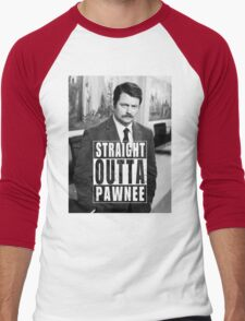Striaght Outta Pawnee Men's Baseball ¾ T-Shirt