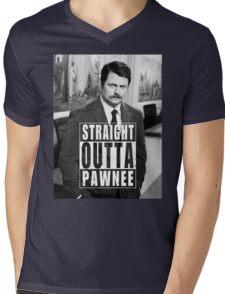 Striaght Outta Pawnee Mens V-Neck T-Shirt