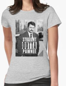 Striaght Outta Pawnee Womens Fitted T-Shirt