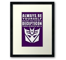 Always - Decepticon Framed Print