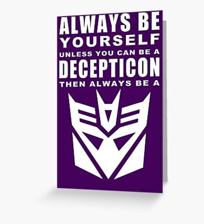 Always - Decepticon Greeting Card
