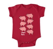 Paper farm -  pig stack One Piece - Short Sleeve
