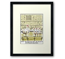 The Big Chicken - head of the chicken coop. Framed Print