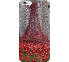 A Cascade Of Poppies At The Tower Of London iPhone Case/Skin