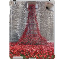 A Cascade Of Poppies At The Tower Of London iPad Case/Skin