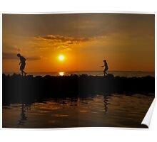 Play Day at Sunset Poster