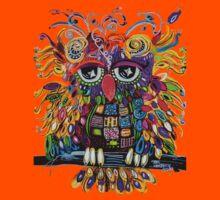Owlsa the Colorful Owl Kids Tee