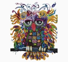 Owlsa the Colorful Owl Kids Tee