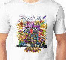 Owlsa the Colorful Owl Unisex T-Shirt