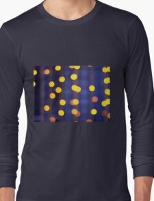 Abstract image - round, yellow and red lights Long Sleeve T-Shirt
