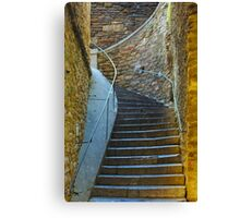 Vintage staircase in Bormes les Mimosas, FRANCE Canvas Print