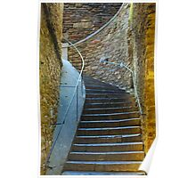 Vintage staircase in Bormes les Mimosas, FRANCE Poster